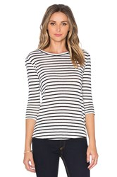 Bb Dakota Neva Stripe Tee White