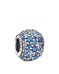 Pandora Design Pandora Charm Sterling Silver Cubic Zirconia And Crystal Sky Mosaic Pave Moments Collection Blue