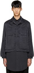 Craig Green Black Silk Workwear Jacket