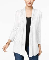 Inc International Concepts Open Front Cardigan Only At Macy's Bright White