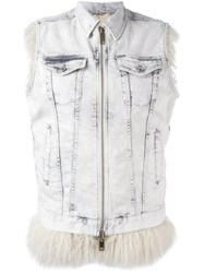 Diesel Sleeveless Zipped Denim Blue Jacket