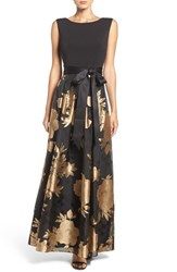 Ellen Tracy Women's Woven Fit And Flare Gown