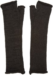Isabel Benenato Black Fingerless Gloves