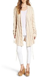 For Love And Lemons Women's 'Wythe' Long Cable Knit Cardigan