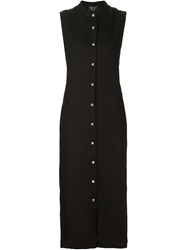 Creatures Of The Wind Long Button Up Dress Black