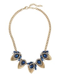 Jules Smith Designs Crystal Teardrop Statement Necklace Jules Smith Navy