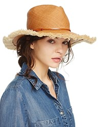 Yestadt Millinery Fringed Beach Fedora Tan