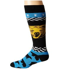 Neff Bear Head Snow Socks Blue Men's Thigh High Socks Shoes