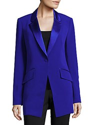 Diane Von Furstenberg Single Button Boyfriend Blazer Purple