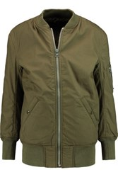 Nlst Reversible Cotton And Wool Bomber Jacket Army Green