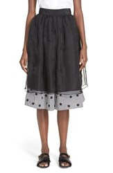 Women's Jupe By Jackie 'Suton' Floral Embroidered Layered Skirt
