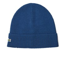 Lacoste Men's Ribbed Beanie Hat Philippines Blue