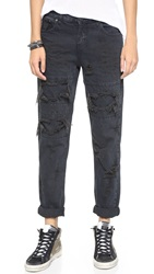 One Teaspoon Fox Black Awesome Baggies Jeans