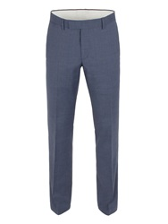 Racing Green Plain Weave Tailored Fit Trouser Airforce Blue