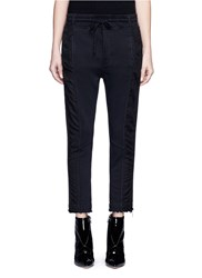 Haider Ackermann 'Duplessis' Grosgrain Trim French Terry Jogging Pants Black