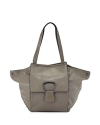 Kooba Avery Leather Shoulder Bag Gray