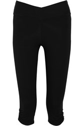 Yummie Tummie Candace Cropped Stretch Cotton Blend Leggings Black