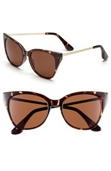 Women's Isaac Mizrahi New York 51Mm Retro Sunglasses Tortoise
