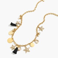 J.Crew Tortoise Oval Link Necklace With Crystals