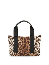 Valentino Animal Inspired Print Tote Brown
