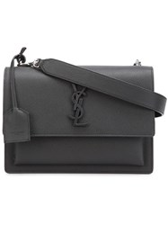 Saint Laurent Small 'Sunset Monogram' Satchel Black