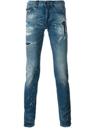 Marcelo Burlon County Of Milan Distressed Jeans Blue