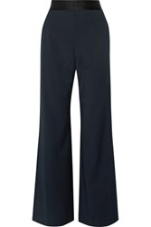 Opening Ceremony Focal Crepe Wide Leg Pants Midnight Blue