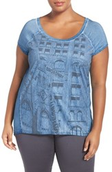Addition Elle Love And Legend Plus Size Women's Print Faux Suede Front Tee