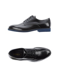 Fendi Lace Up Shoes Black