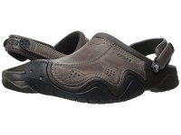 Crocs Swiftwater Leather Camp Clog Epsresso Black Men's Shoes