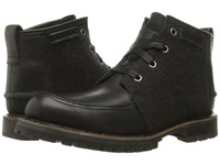 Caterpillar Russell Black Wool Men's Lace Up Boots