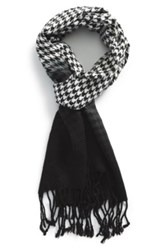 The Rail Houndstooth Ombre Scarf Black