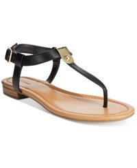Styleandco. Style And Co. Baileyy Thong Sandals Only At Macy's Women's Shoes Black