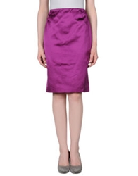 Rena Lange Knee Length Skirts Light Purple