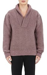Haider Ackermann Shawl Collar Sweater Purple