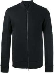 Helmut Lang Panelled Sleeve Bomber Jacket Black