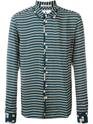 Andrea Pompilio Striped Shirt Green
