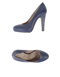 Martin Clay Platform Pumps Light Grey