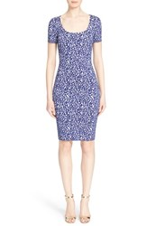 Women's St. John Collection 'Twisting Vines' Jacquard Knit Sheath Dress