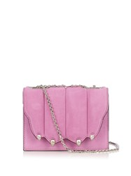 Marco De Vincenzo Paw Effect Suede Cross Body Bag Light Pink