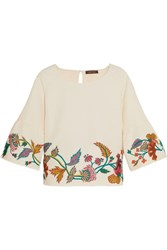 Vineet Bahl Embroidered Matelasse Top White