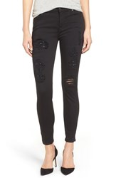 7 For All Mankindr Women's Mankind Sequin Rip And Repair Ankle Skinny Jeans