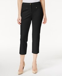 Charter Club Stretch Cropped Pants Only At Macy's Deep Black