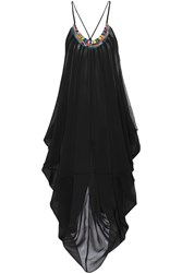 Mara Hoffman Embellished Georgette Beach Dress Black