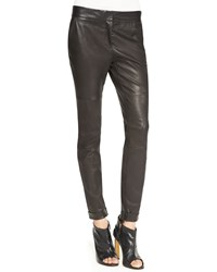 Derek Lam 10 Crosby Moto Leather Leggings Black