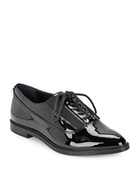 Calvin Klein Della Patent Leather Oxfords Black