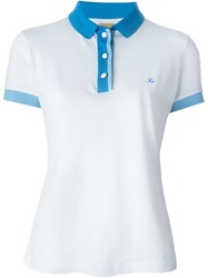 Fay Contrast Collar Polo Shirt