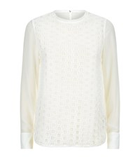 Ted Baker Soreyaa Embroidered Top Female Cream