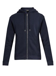 A.P.C. Cotton Blend Hooded Sweatshirt Navy