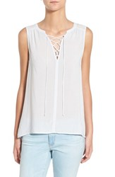 Women's Velvet By Graham And Spencer Lace Up Sleeveless Top Danube